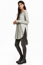 Long jersey top - Light grey - Ladies | H&M CN 1