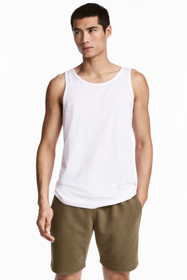 Vest top - White - Men | H&M