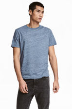 Round-neck T-shirt Regular fit - Blue marl - Men | H&M 1