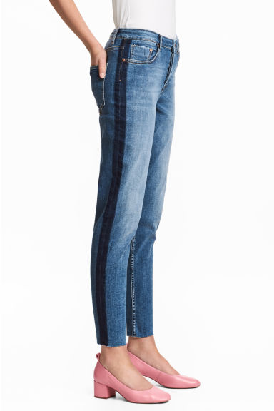 Straight Cropped Regular Jeans - Denimblauw - DAMES | H&M BE 1
