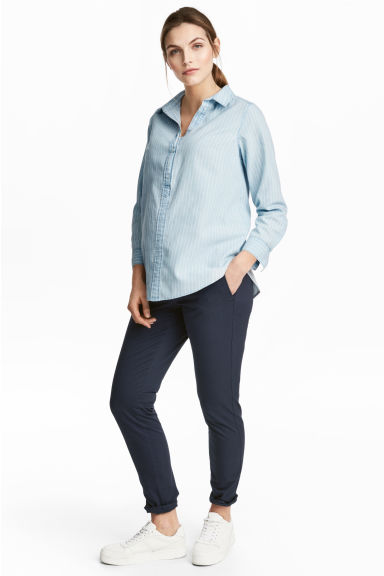 MAMA Chinos - Dark blue - Ladies | H&M