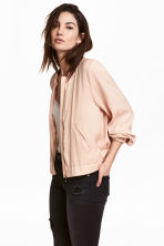 Satin bomber jacket - Powder - Ladies | H&M CN 1