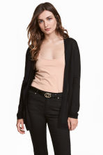 Fine-knit cardigan - Black - Ladies | H&M CN 1