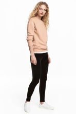 Velour leggings - Black - Ladies | H&M 1