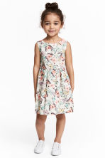 Patterned cotton dress - White/Butterflies - Kids | H&M CN 1