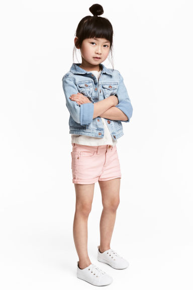 Short twill shorts - Light pink - Kids | H&M CN 1