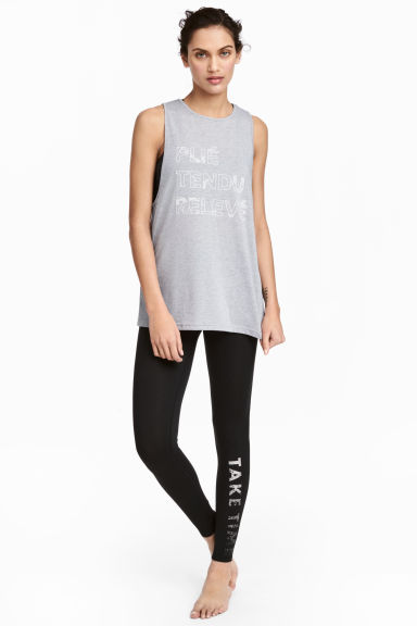 Yoga tights - Black -  | H&M 1