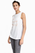Yoga vest top - White - Ladies | H&M 1