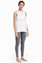 Yoga tights - Grey marl - Ladies | H&M 1
