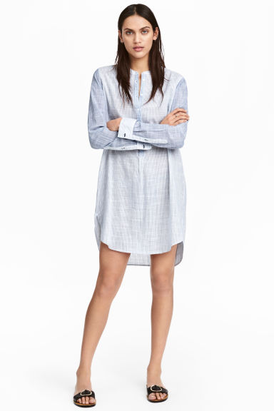 Striped cotton tunic Model