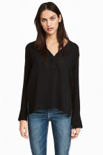 V-neck blouse - Black -  | H&M 1