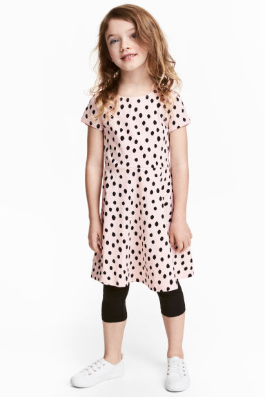 Jersey dress - Light pink/Spotted -  | H&M 1