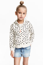 Hooded jacket - White/Spotted - Kids | H&M 1