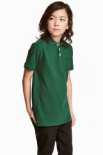 Polo shirt - Dark green - Kids | H&M 1