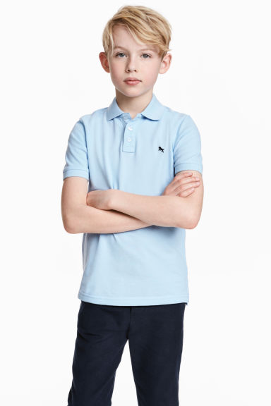 Polo shirt - Light blue - Kids | H&M CN 1
