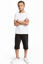 Sweatshirt shorts - Black - Kids | H&M 1