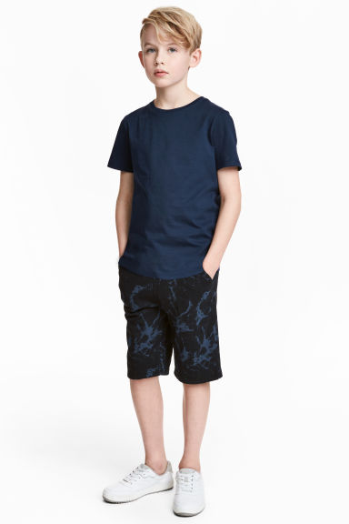 Shorts in felpa - Nero/blu -  | H&M IT 1