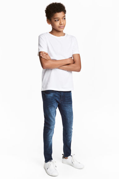Superstretch Skinny fit Jeans - 深牛仔蓝 - 儿童 | H&M CN 1