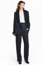 Wide suit trousers - Dark blue - Ladies | H&M CN 1