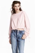 Short drawstring sweatshirt - Light pink - Ladies | H&M 1