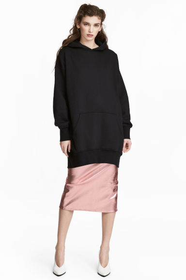 Oversized hooded top - Black - Ladies | H&M CN