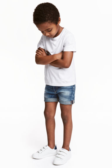 Short en jean - Bleu denim - ENFANT | H&M FR