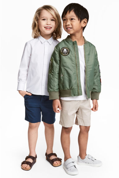 2-pack chino shorts - Light mole - Kids | H&M CN 1