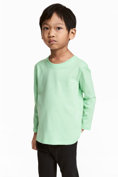 3-pack long-sleeved T-shirts - Mint green -  | H&M 1