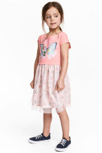 Dress with a tulle skirt - Pink/Frozen - Kids | H&M 1
