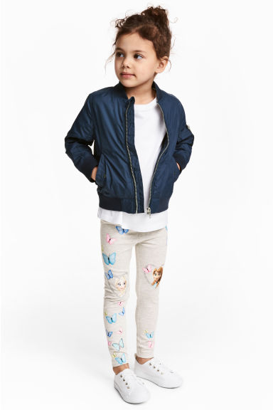 Jersey leggings - 浅米色/冰雪奇缘 - Kids | H&M CN 1
