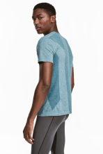 Seamless sports top - Grey-blue marl - Men | H&M 1
