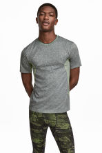 Seamless sports top - Dark grey marl - Men | H&M CN 1