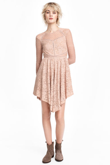 Lace dress - Old rose - Ladies | H&M CN 1