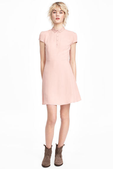 Crêpe dress - Old rose - Ladies | H&M CN
