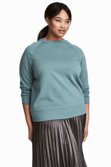 H&M+ Sweatshirt - Dark turquoise - Ladies | H&M CN 1