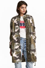 Cotton parka - Khaki green/Patterned - Ladies | H&M 1
