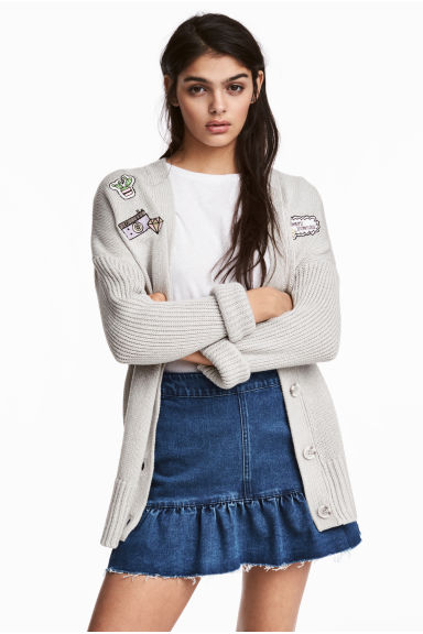 Knitted cardigan - Light mole - Ladies | H&M CN 1