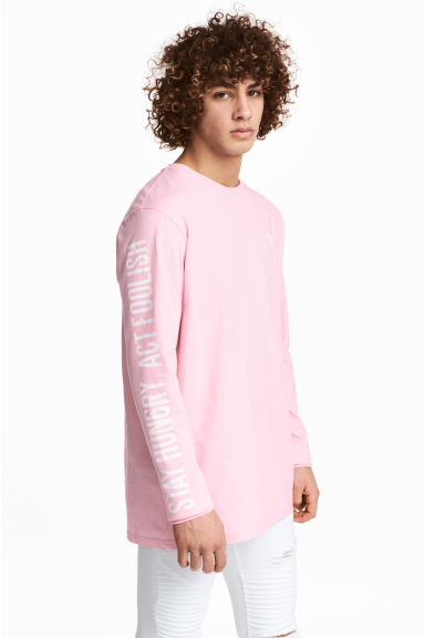 Long-sleeved T-shirt - Light pink - Men | H&M 1
