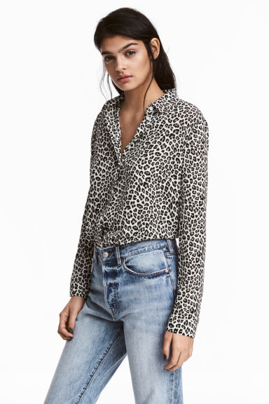 縐紗襯衫 - Leopard print - Ladies | H&M 1