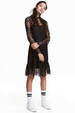 Short lace dress - Black - Ladies | H&M 1