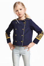 Ribbon-embroidered jacket - Dark blue - Kids | H&M CN 1