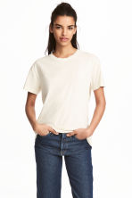 Wide T-shirt - Natural white - Ladies | H&M 1