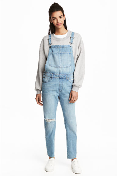Denim dungarees - Light denim blue - Ladies | H&M 1