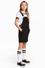 Dungaree dress - Black -  | H&M CN 1