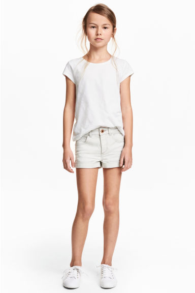 Twill shorts - Light grey -  | H&M CA