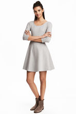 Jersey dress - Grey marl - Ladies | H&M 1