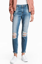 Boyfriend Slim Low Jeans - Denim blue trashed - Ladies | H&M 1