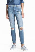 Boyfriend Slim Low Jeans - 浅牛仔蓝 - 女士 | H&M CN 1
