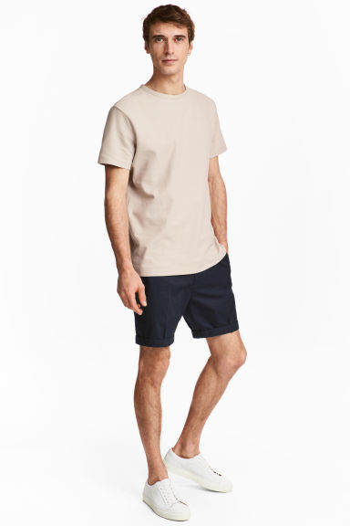Short chino shorts - Dark blue - Men | H&M CN 1