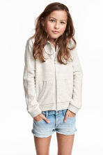 Hooded jacket - Light beige marl - Kids | H&M 1